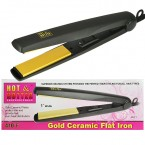 "HOT&HOTTER 1"" Gold Ceramic Flat Iron"