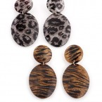 Animal Print Resin Earrings