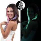 Anytime Synthetic Hair Glow-in-the-Dark Clip-on Highlight 18