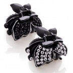 Black Butterfly Hair Claw Clip