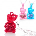 Baby Bear with Heart Necklace