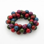 Beaded Cluster Stretch Bracelet