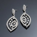 Beautiful Eye Rhinestone Dangle Earrings