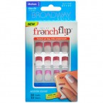 Broadway French Flip Medium Length Modern Square 24 Nails 12 Sizes