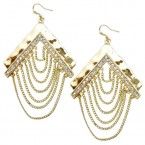Boomerang Linked Fringe Earrings