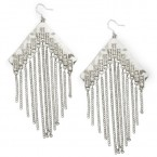 Boomerang Fringe Earrings