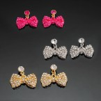 Bow Rhinestone Stud Earrings