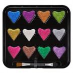 Beauty Treat Hearts Glitter Palette