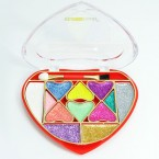 Heart Assortied Color Glitter Eyeshadow