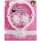 Cutie Accessories White Lace Hair Ornament Set for Kids