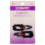 Conair Fashion Accessories Snap Clips 2Pcs