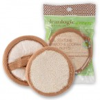 Cleanlogic Green Dual Texture Bamboo & Loofah Facial Buffs