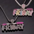 Chunky Rock Friday Rhinestone Necklace