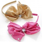 Dot Fabric Bow Headband