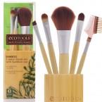 ECOTOOLS Bamboo 5piece Brush Set with Bamboo Cup