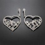 Jewel Filled Heart Earrings