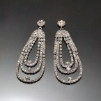 Hanging Loops of Rhinestone Earrings