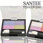 SANTEE 4 Colors Eyeshadow Quad Diamond Shine
