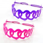 Flexible Plastic Heart Headband