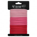 Fashion Accessories Pink & Red Ponytailers 36Pcs