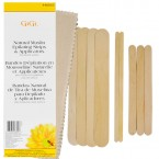Gigi Natural Muslin Epilating Strips & Applicators for All Soft Waxes
