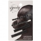 Goody Luxe Black Christines Slides and Salon Clips