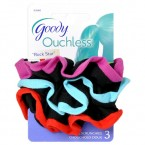 Goody Ouchless Rock Star Gentle Black Scrunchies 3pcs