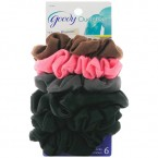Goody Ouchless Gentle Scrunchies 6pcs - Black tone