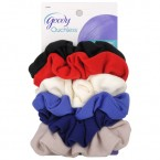 Goody Ouchless Soft Fabric Gentle Scrunchies 6 Pcs