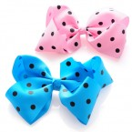 Grosgrain Polka Dot Bow Hair Clips