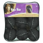 Hype Hair 9 Pcs Satin Foam Rollers