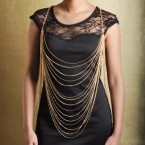 Hottest New Trend Layered Body Chain-Gold Tone