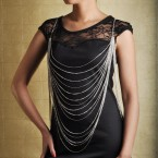 Hottest New Trend Layered Body Chain-Silver Tone