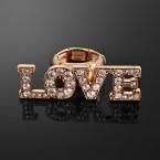 LOVE Rhinestone Stretch Ring