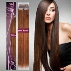 Hair Story Human Hair Clip on Weave Premium Clip-In Extensions 5Pcs 18
