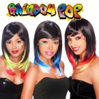 Synthetic Hair Wig It's a Wig Rainbow Pop
