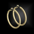 Star Dust Hoop 40mm, 60mm Earrings-Gold Tone - Choose Your Size!