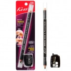 KISS Brow Wax and Pencil Duo - Clear & Universal Brown with sharpener