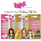 Kid Care Bratz 24 Stick On Nails Holiday Gift Set