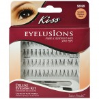 Kiss Deluxe Eyelash Kit-Socialite Medium Black