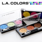 LA Colors 3Color Eyeshadow Palette 0.19oz
