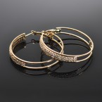 2Line Rhinestone Hoop Earrings-Choose Your Color!