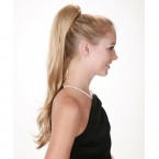 Lord & Cliff Synthetic Drawstring Ponytail Think Pink Victoria-L