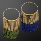 Linked Ring Chain Fringe Earrings