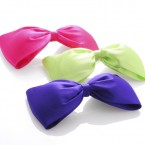 Large Satin Bow Hair Clips