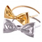 Metallic Bow Headband