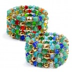 Mixed Faux Turquoise Beads Stretch Bracelet