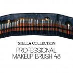 Stella Collection Professional Makeup Brush Set 48Pcs