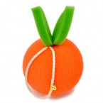 Orange Shower Soft Sponge Pouf