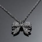 Pretty Bow Rhinestone Necklace